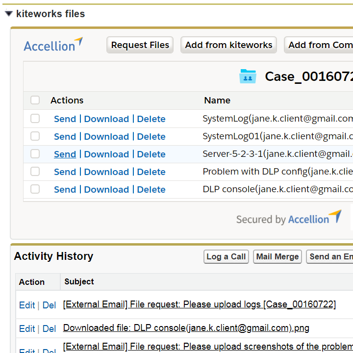 Simple - Secure Salesforce File Sharing