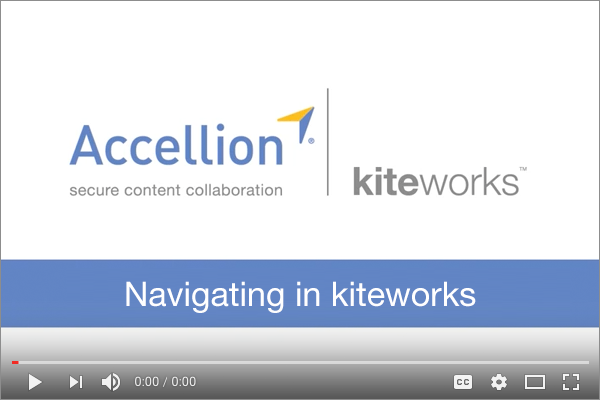How to Navigate in kiteworks