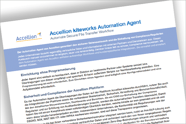 Accellion kiteworks Automation Agent
