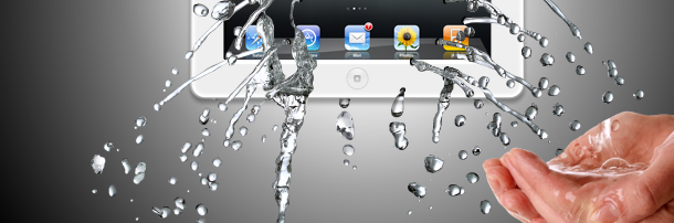 Water leaking from a device