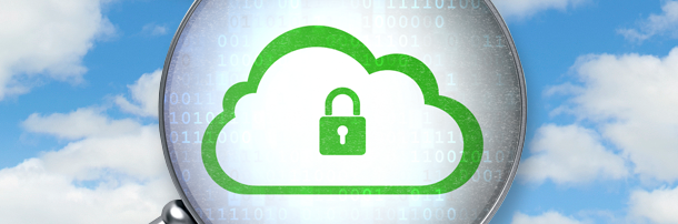 Padlock image on a cloud