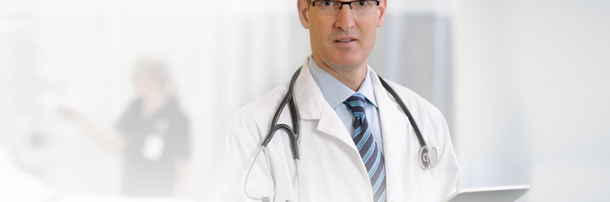 Physician using kiteworks on a mobile device
