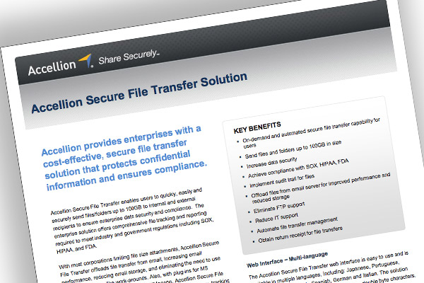 Accellion Secure File Transfer Solution