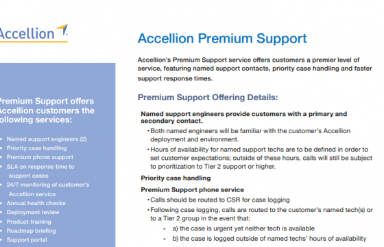 Accellion Product Brief Accellion Premium Support