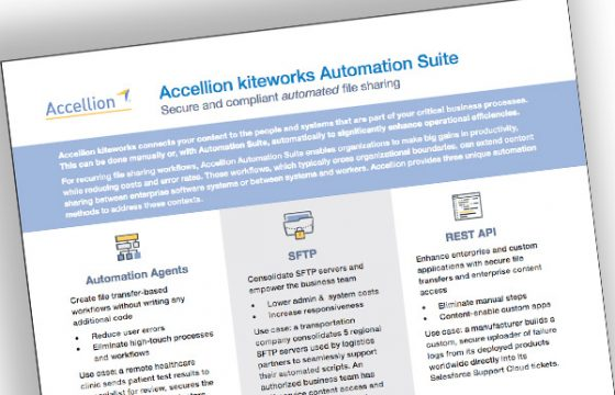 Accellion kiteworks Automation Suite