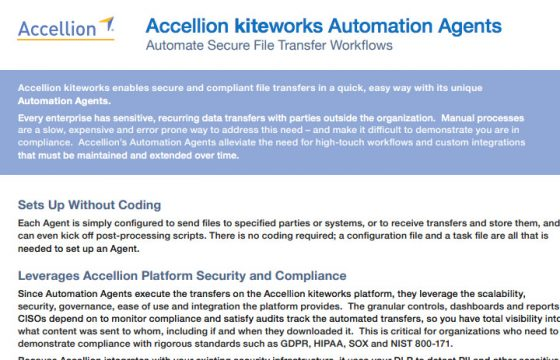 Product Brief - Accellion kiteworks Automation Agents