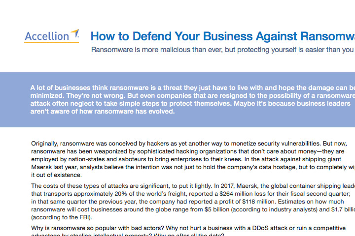 Case Study - How to Defend Your Business Against Ransomware