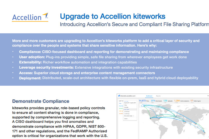 Accellion product brief Upgrade to Accellion kiteworks