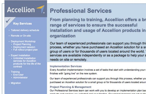Product Brief - Professional Services