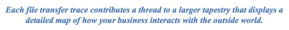 Each file transfer trace contributes a thread