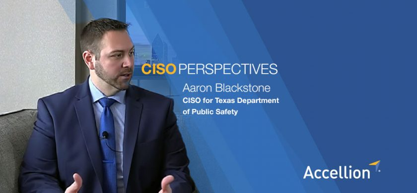 Aaron Blackstone, CISO for Texas Department of Public Safety