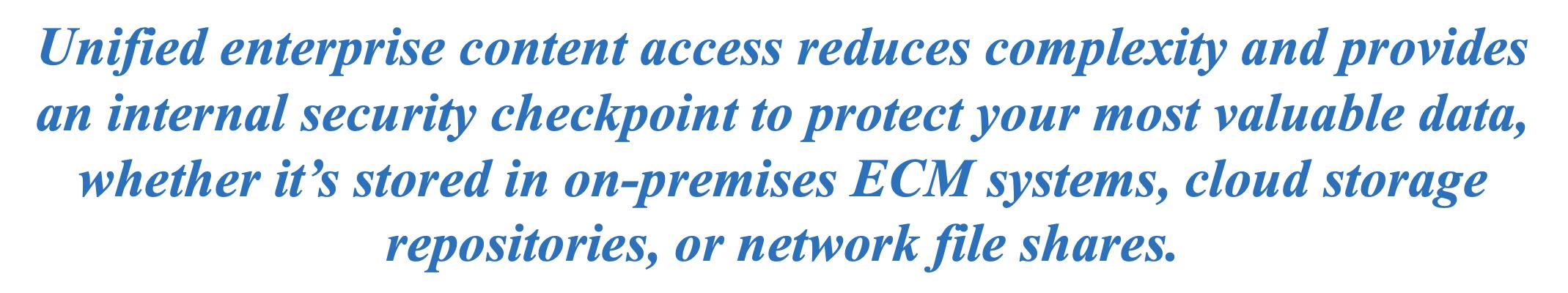 Unified Enterprise Content Access
