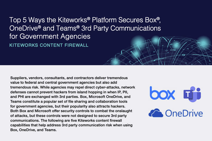 Top 5 Ways the Kiteworks Platform Secures Box, OneDrive and Teams 3rd Party Communications for Government Agencies